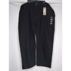 NWT Levi Strauss 550 Black Jeans Straight Leg Size 50x29 Relaxed New With Tags